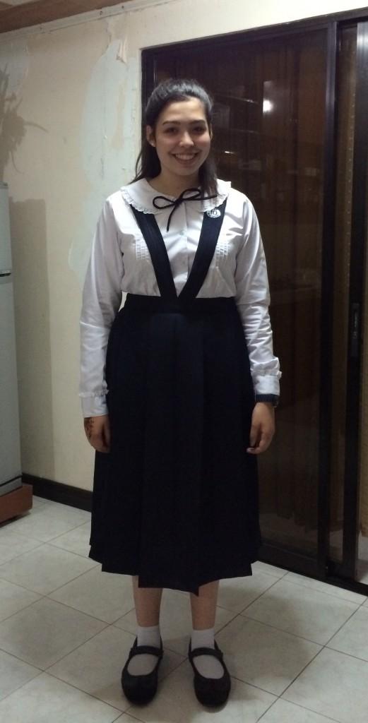 So sehe ich in meiner Schuluniform aus