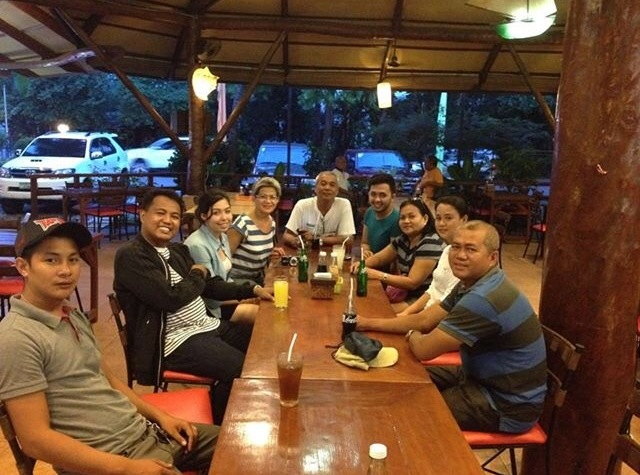 An meinem ersten Abend in Bacolod City, im Restaurant