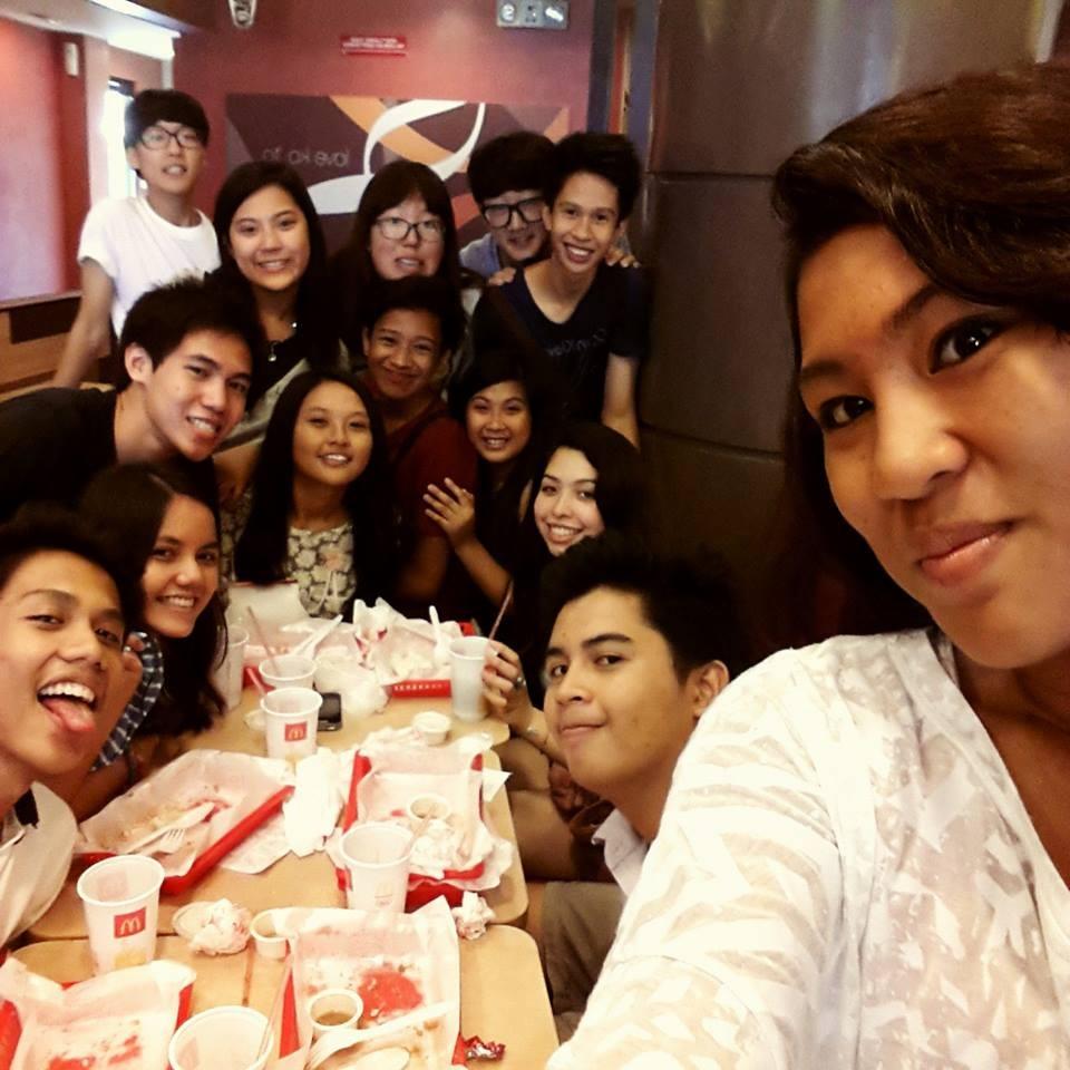 Mit meinen Freunden bei McDonald's