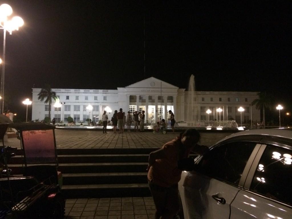 NGC-Gelände mit dem Rathaus im Hintergrund