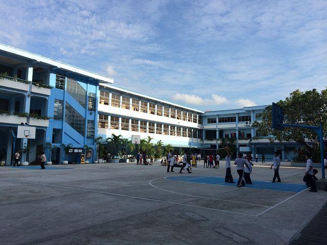 Der Schulhof meiner High School