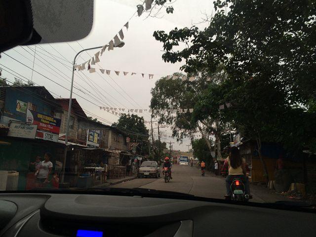Straße n der Umgebung von Bacolod CIty